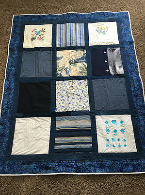 DEPOSIT:  CUSTOM 12 T-SHIRT MEMORY QUILT using your shirts Graduation, Memorial