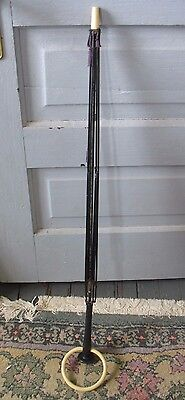 "ANTIQUE 32"" VICTORIAN MOURNING UMBRELLA OR PARASOL FRAME wood handle w ring"
