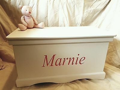 *NEW*ASSEMBLED Personalised Handmade Children's Wooden Toy/Storage Box