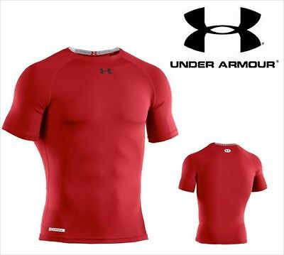 Under Armour Heatgear Sonic Compression Short Sleeve T-Shirt  XL  Red  New.