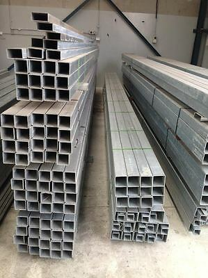 6m Long Steel!!! Galvanized Square Post / Pipe / Tube For Sale