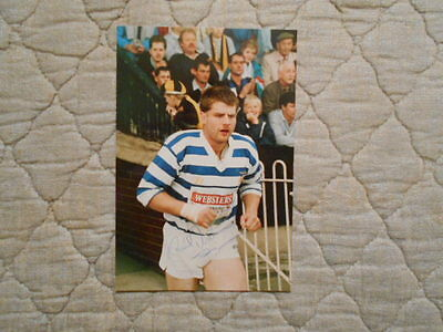 Paul Dixon Signed Colour Photo Of Player Coming Out At Wheldon Road 1985