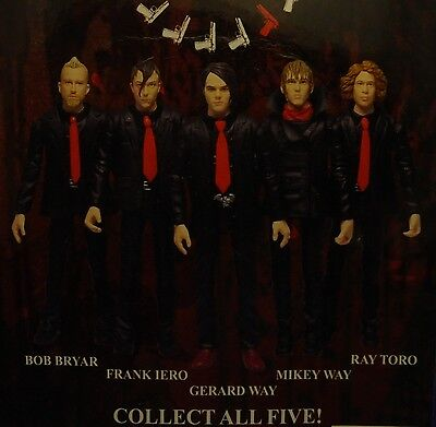 My Chemical Romance Complete Set of 5 Rock Action Heroes Figures MOC Gerard Way