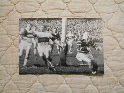 B/w Copy Action Photo Of Mullaney & Skene In Rugby League Cup Semi Final 1960