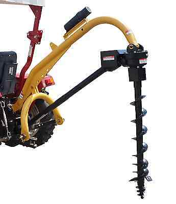 "3 Point Post Hole Digger Model 1000 & Auger 6 9 12 18 24"" Option Cat 1 2 Tractor"