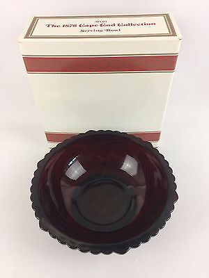 Avon Cape Cod Ruby Red Collection SERVING BOWL Vintage Glass