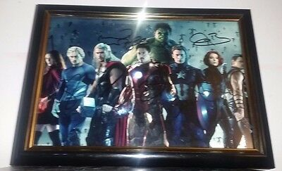 The Avengers - Hand Signed By 7 Main Cast With Coa Rare Framed Signed 8X10 Photo