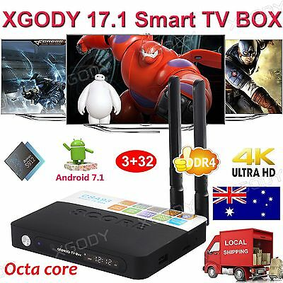 XGODY 3+32GB S912 Android 6.0 TV BOX 8 Core 17.0 Add-ons Fully Loaded 4K Movies