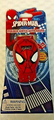 Marvel Spider-Man Boys Molded LCD Watch with Sound Feature Battery Operated New