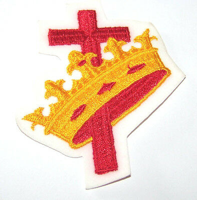 Nice Masonic Knights Templar Red And Yellow Cross And Crown Patch