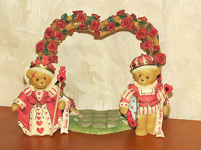 CHERISHED TEDDIES Valentines Love Romance SET Lot 3 RETIRED King Queen Of HEARTS