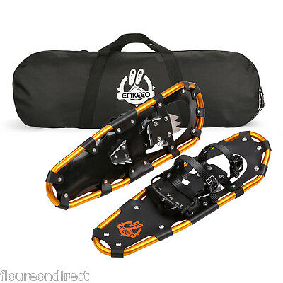 """ENKEEO 25""""Inch Light Weight Aluminum Alloy Terrain Snowshoes Kit with Carry Bag"""