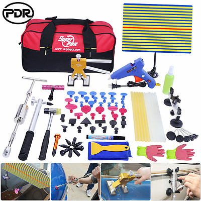 80pc PDR Tools Paintless Dent Repair Removal Dent Puller T Bar Lifter Tabs Hail