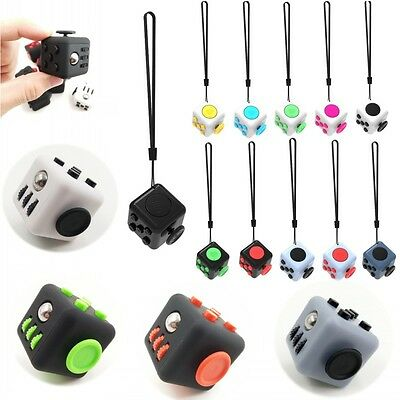 6-Side 2.2mm Magic Fidget Cube Anti-anxiety Adult Stress Relief Focus Kids Toy