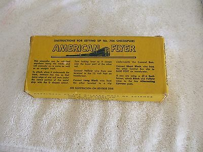 Gilbert American Flyer Used  Uncoupler #706 With Remote In Original Box