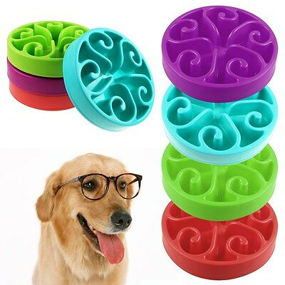 Puppy Dog Slow Down Eating Feeder Dish Pet Dog Cat Feeding Food Bowl