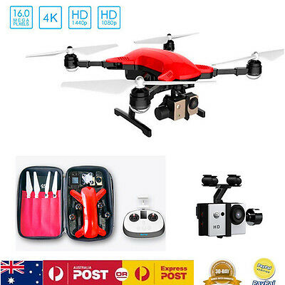Simtoo Dragonfly RC Drone FollowMe UAV 3-AIXS Gimbal Quadcopter FPV 4K HD Camera