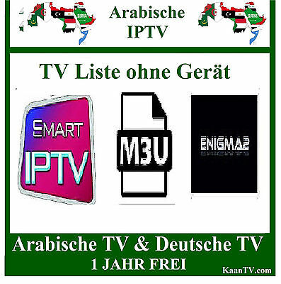 Smart Iptv Arab -  Arabische Tv Sender 1 Jahr  Arabic Iptv M3U  Smart Ip Tv
