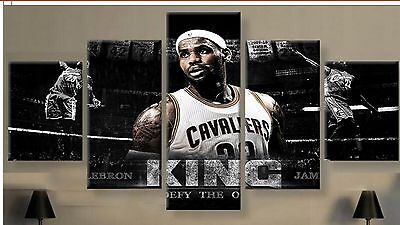 Large Framed Lebron James the King canvas wall poster