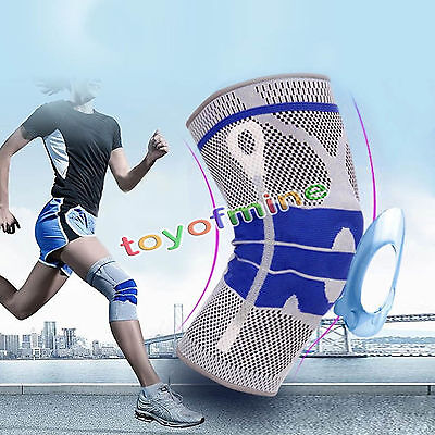 Sport Gym Elastic Knee Pad Wrap Support Brace Arthritis Injury Sleeve Protector