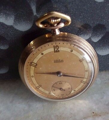 ARSA Winding pocket watch Signo Swiss made Rolled gold
