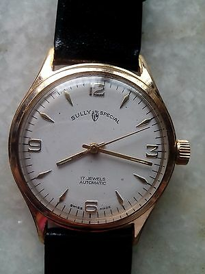 Sully Special automatic wrist watch Swiss made White dial 17 jewels