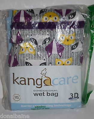 Kangacare Dimensional Diaper Holder Wet Bag In Bonnie Design - Free S/h