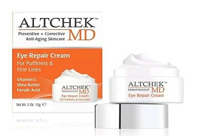 NIB Altchek MD Eye Repair Cream For Puffiness and Fine Lines 0.5 oz