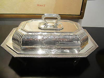 Black Starr & Frost 42+ OZT Neoclassical Sterling Silver Covered Vegetable Dish