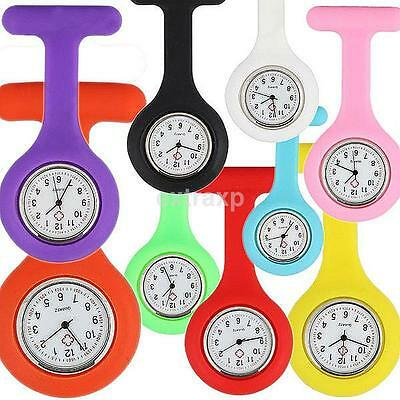 Silicone Nurse Watch Brooch Tunic Fob Nursing Nurses Pendant Clip Pocket Quartz