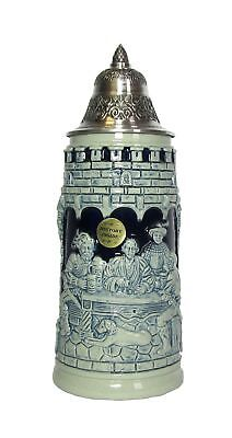 Blue German Beer Stein life is a game of dice Knight Stein.. KI T1290EZ 0,5L NEW
