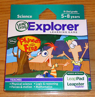 LeapFrog Leapster EXPLORER Game == Dsiney: PHINEAS and FERB == NEW IN BOX