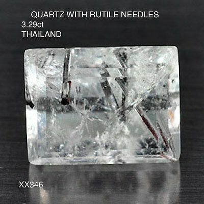 QUARTZ WITH RUILE NEEDLES NATURAL UNTREATED STONE  3.29Ct  XX346