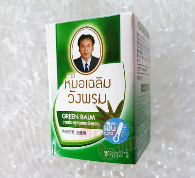 20 g. Wangphrom Thai Herbal Green Balm Massage Pain Relief Aromatherapy Swelling