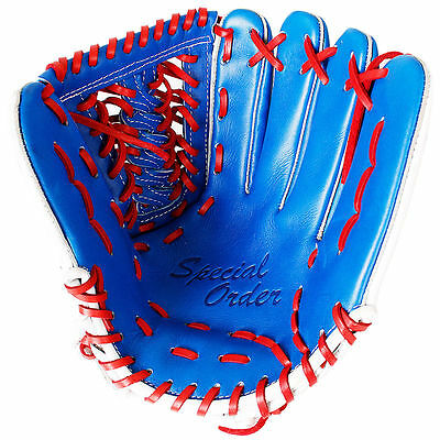 """Copozz Baseball Softball 12"""" Gloves Adult  Mitts For Outfield Pitcher Blue"""