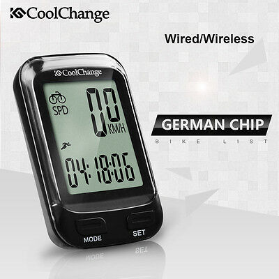 CoolChange Wireless/Wired LCD Bike Computer Cycling Speed Odometer Speedometer