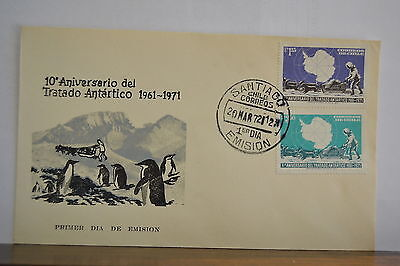 Chile Antarctic FDC 10 Anniversary Antarctica Treaty Penguins Two covers