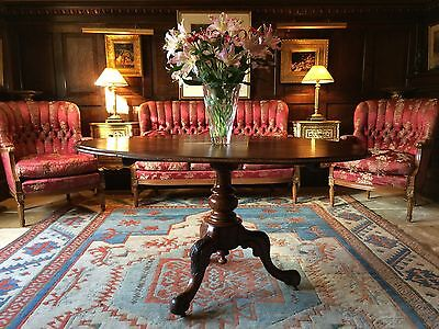 Fabulous Antique Victorian Oval Centre Table Victorian Mahogany 19th Century