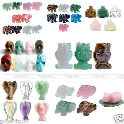 Feng Shui Gemstone Carve Healing Well-Polished DIY Home Office Decor Gift Box