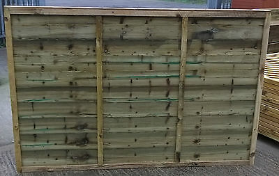 Garden Fencing - 6ft x 6ft Heavy Duty Pressure Treated Waney Lap Fence Panels