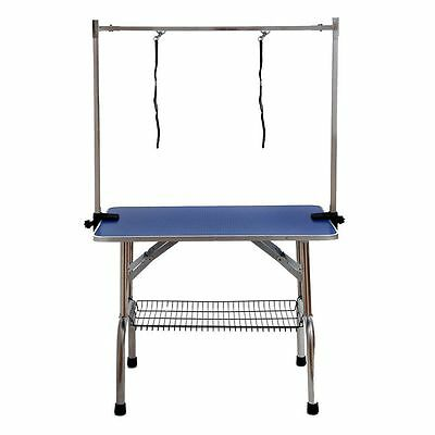 Dog Pet Adjustable Grooming Table Tables Examination Table For Pets Cat 201-Blue