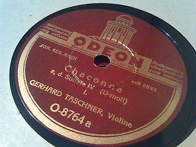 """78rpm GERHARD TASCHNER (Violine) Bach CHACONNE Odeon 2x12""""     RECORDED IN 1941"""