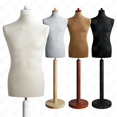 SIZE 38-40 MALE Mannequin Tailors Bust Dressmakers Dummy Torso Round Base S2