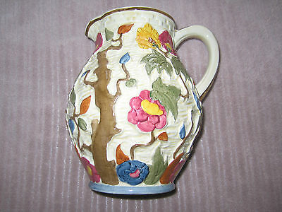 H J WOOD ART Deco Large Indian Tree Jug Superb 8 Inchs Super