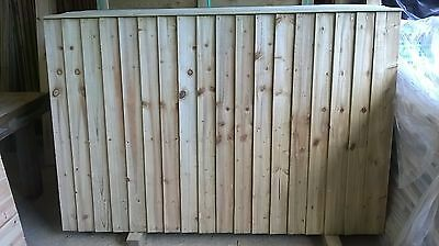 6ft x 5ft Feathered Edge Wood Fence Panels, Heavy Duty Fencing