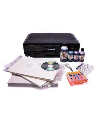 Edible Bundle: Printer, Refillable Cartridges, Edible Ink, & 25 Icing Sheet