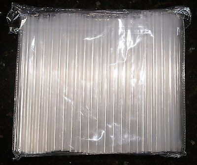 "100 1/2"" Wide Smoothie and Bubble Tea Fat Straws - Sparkling Clear 1/2"" Wide XXL"