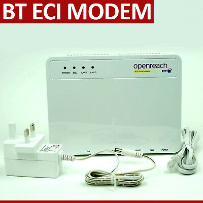 New Bt Openreach Fttc Eci Fibre Modem B-Focus Rev B1 Type 1B New With Box