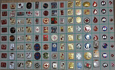 Yugoslavia Red Cross Blood Donation-Vintage pins lot of 112 #2