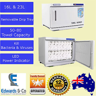 UV Light Hot Facial Towel Sterilizer Cabinet Disinfection Heater Warmer Rack Spa